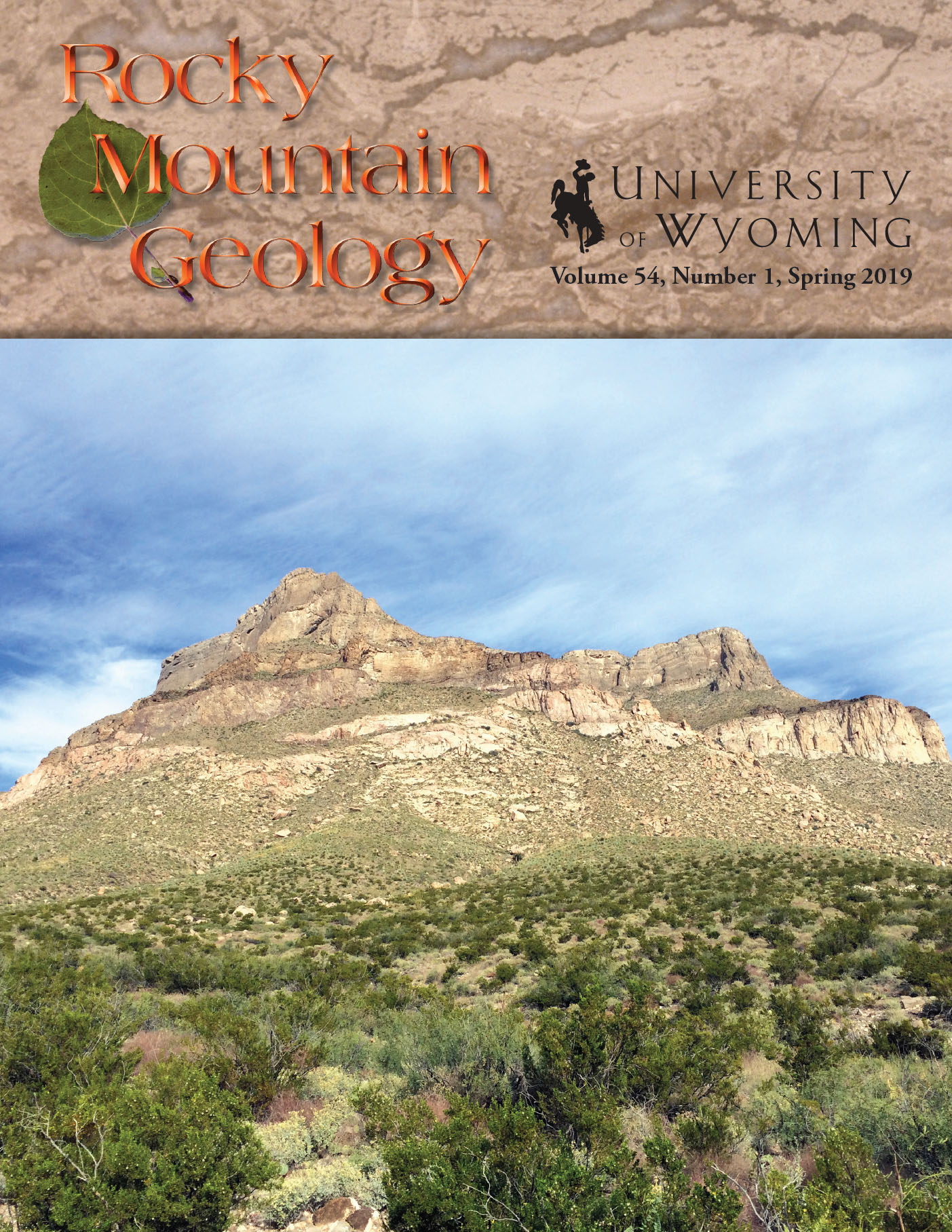 cover of Rocky Mountain Geology vol. 54, no. 1